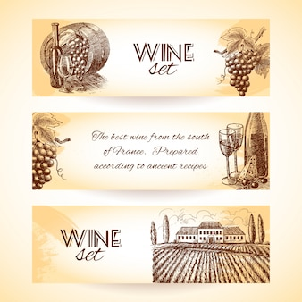 Decorative wine banners