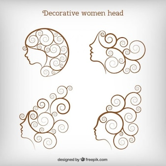 Decorative women head