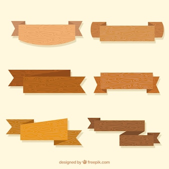 Decorative wooden ribbons pack