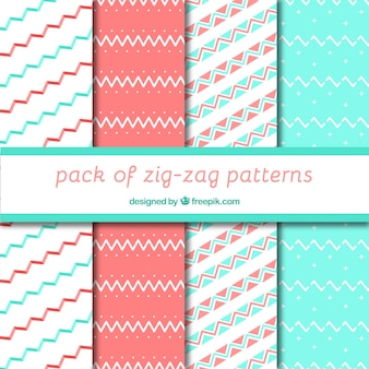 Decorative zigzag patterns in pastel colors