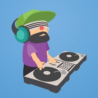 Deejay illustration background