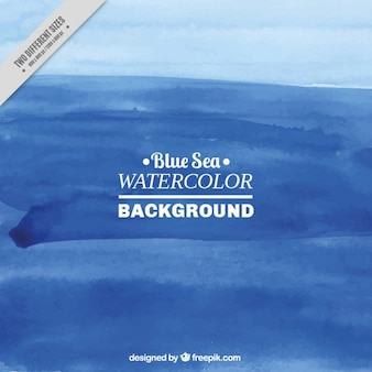 Deep blue sea watercolor background