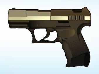 Defence gangster crime gun vector