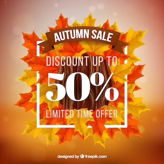 Defocused background of autumn leaves sales