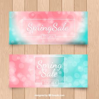 Defocused discount spring banners