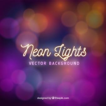 Defocused neon lights background