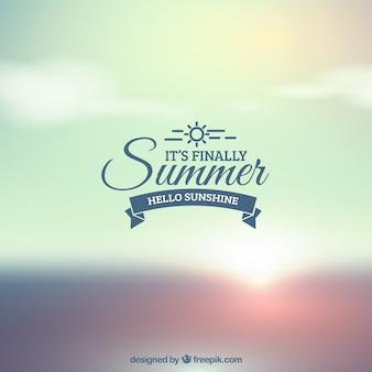 Defocused summer background