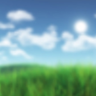 Defocussed sunny landscape background