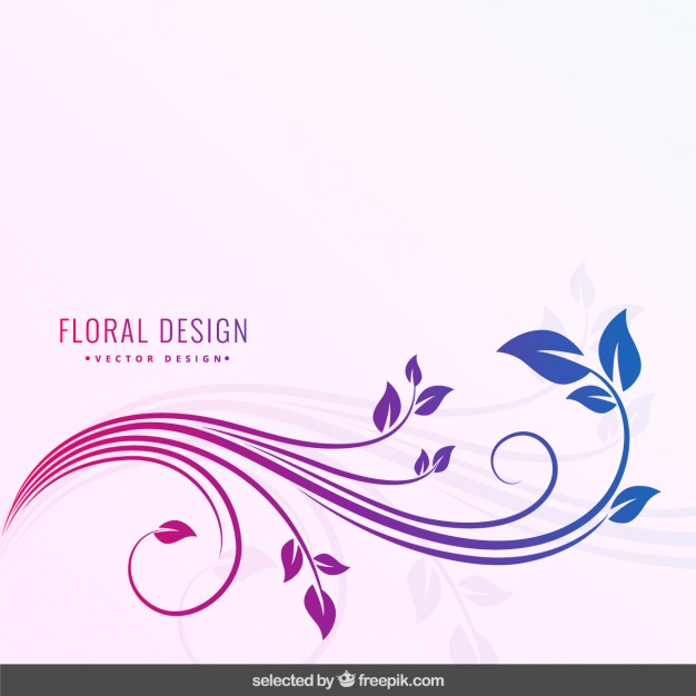 Degraded colors floral background
