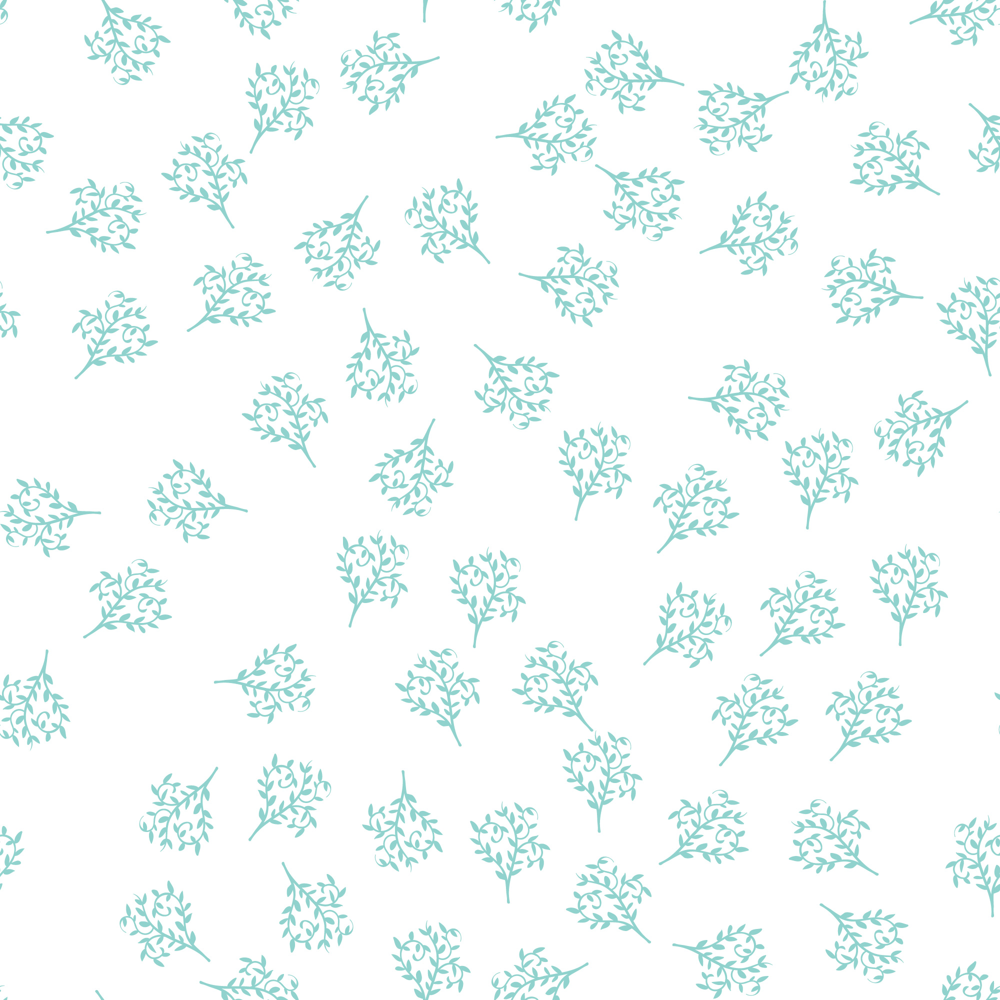 Delicate blue floral pattern
