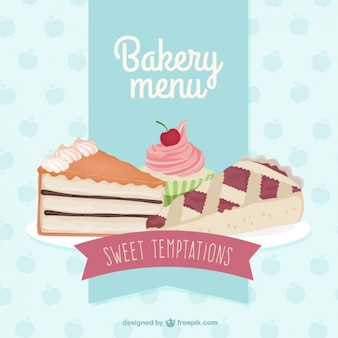 Delicious bakery menu