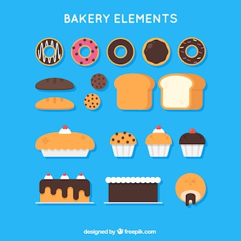 Delicious bakery products and sweets