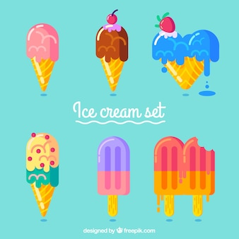 Delicious ice cream set