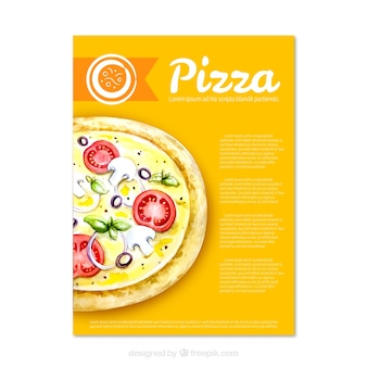 Delicious pizza brochure