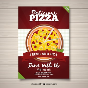 Delicious pizza flyer