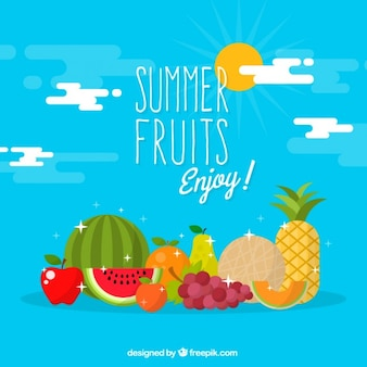 Delicious summer fruits