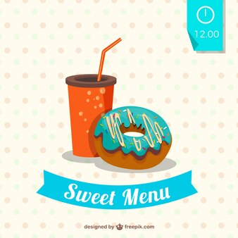 Delicious sweet menu
