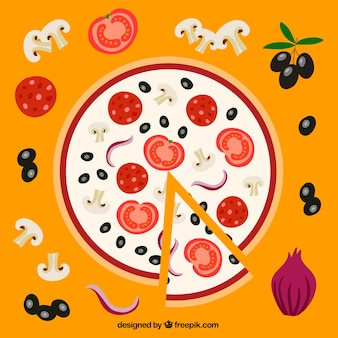 Delicious vegetables pizza