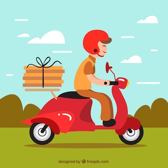Delivery background design