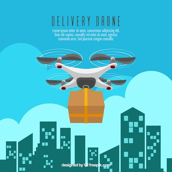 Delivery drone and buildings