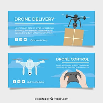 Delivery drone banners