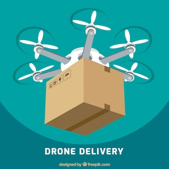 Delivery drone with big carton box