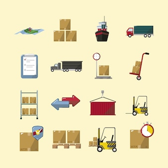 Delivery icons collection