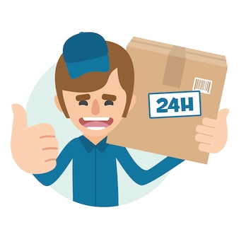 Delivery man background design