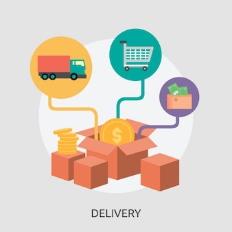Delivery parcels background design