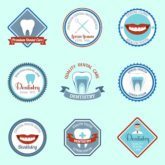 Dental care badges collection