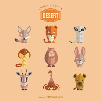 Desert animals set