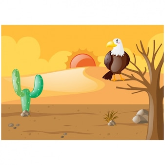 Desert background design