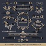 Design collection of ornamental frames