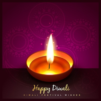 Design for diwali festival with candle