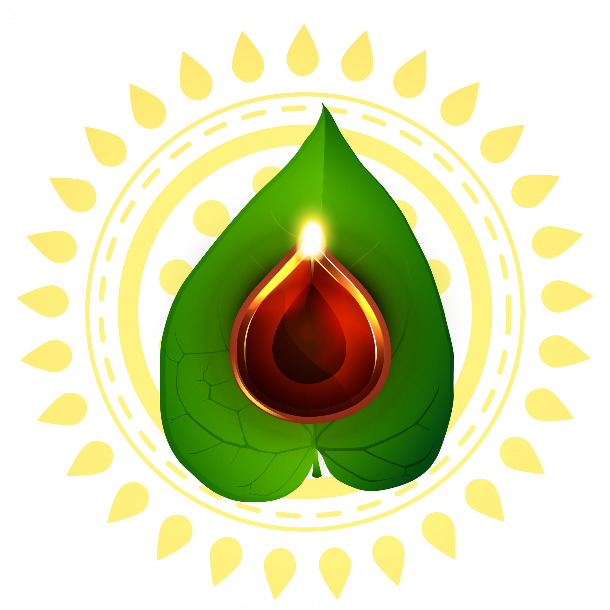 Design for diwali festival with leaf