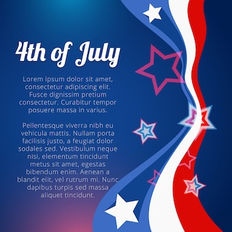 Design for independence day with space for text