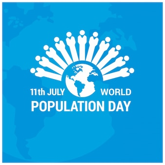 Design with figures for world population day