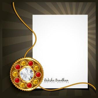 Design with sheet of paper for raksha bandhan