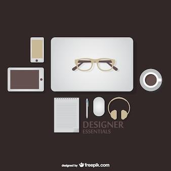 Designer essentials kit vector
