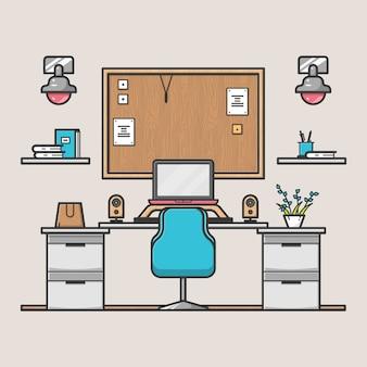 デザイナーの作業デスク