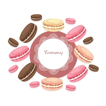 Dessert frame background