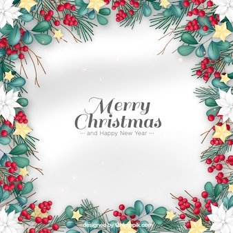 Detailed christmas background