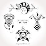 Detailed geometric tattoos