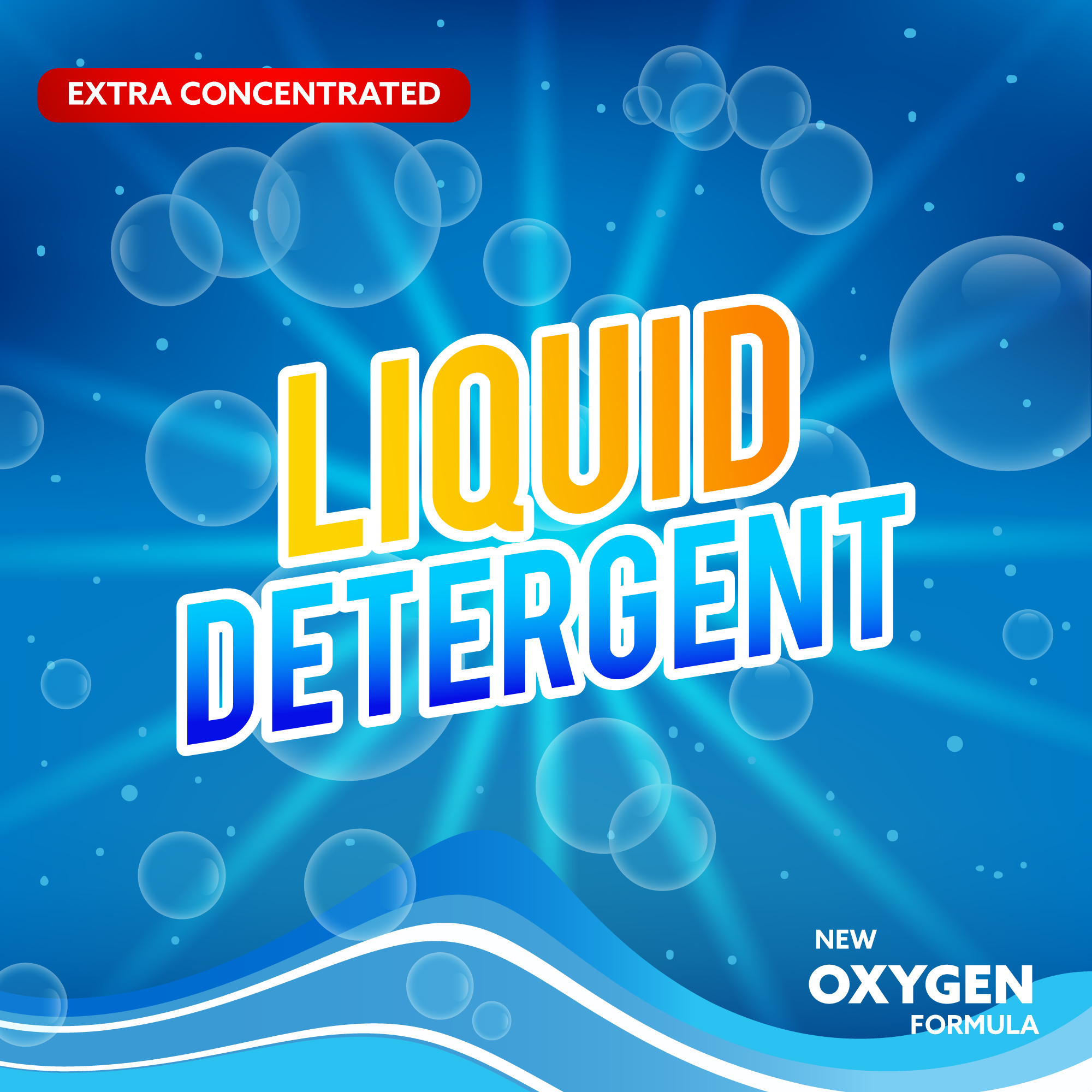 Detergent and Laundry Advertising Concept
