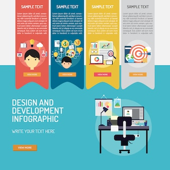 Development infographic template
