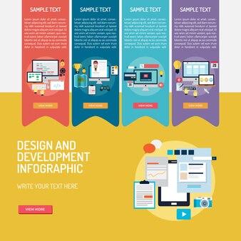 Development infographic template
