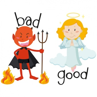 Devil and angel design