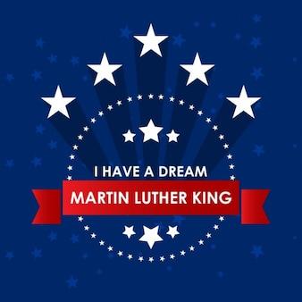 Día de martin luther king jr., fondo azul