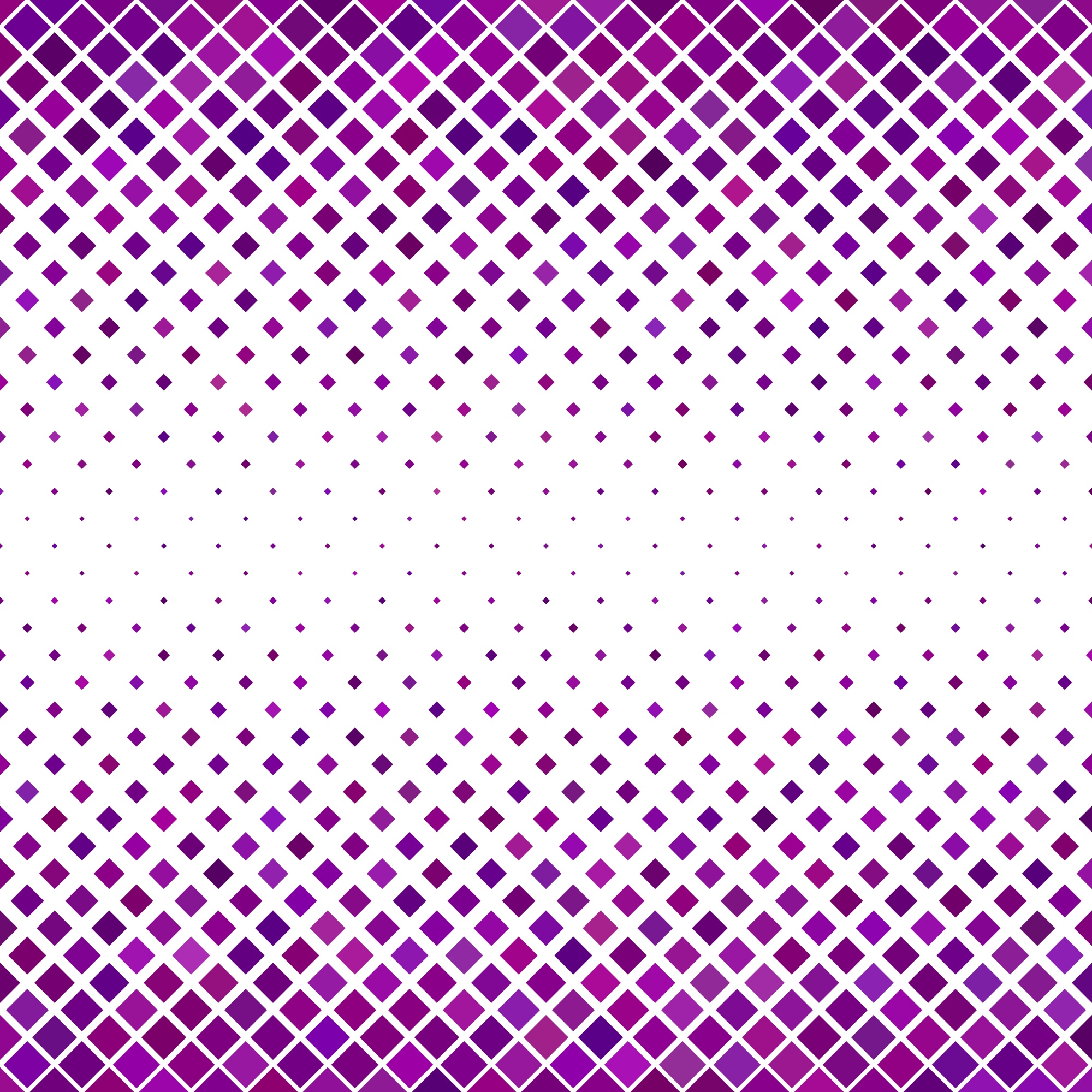 Diagonal square pattern background - geometric vector graphic from purple toned squares
