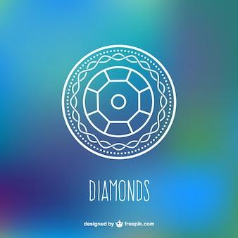 ダイヤモンドの背景ベクトル